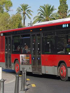 Campaña de sensibilización en autobuses.