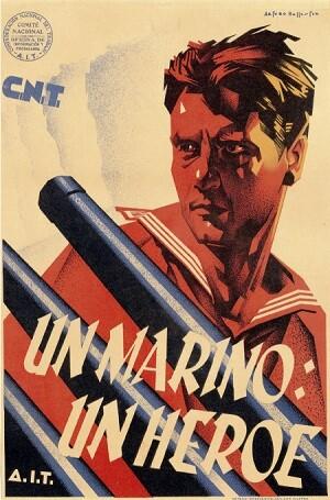 Cartel 'Un marino, un héroe' de Artur Ballester. (1936).