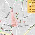 El centro urbano quedará cerrado al paso del vehículos el domingo 26 y por la mascletà que se aplazó el día 13.