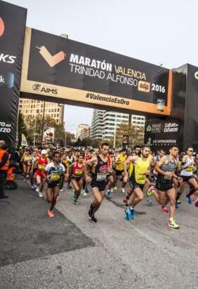 El estudio económico y de calidad del Ivie destaca también la elevada valoración que los participantes dan a la organización de la prueba. (Maratón Valencia).