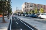 El nuevo carril bici de Malilla se abre a los usuarios.