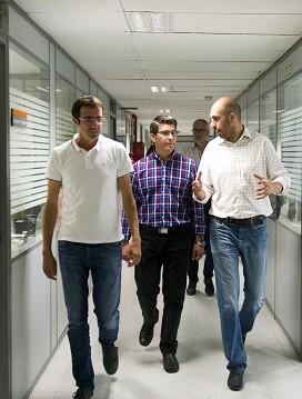 El presidente Jorge Rodríguez y el diputado Pablo Seguí. (Foto-Abulaila).