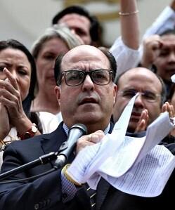 El presidente de la Asamblea Nacional de Venezuela, Julio Borges.