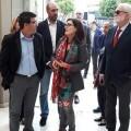 El presidente de la Corporación, Jorge Rodríguez, visita las obras subvencionadas.