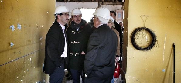 El presidente de la Diputación de Valencia, Jorge Rodríguez, en una visita reciente a Llanera de Ranes.