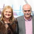 Invitados a la mascletà en el Ateneo (Matías Alonso, Coordinador del Grupo de Recuperación de la Memoria Histórica, Carmen de Rosa)