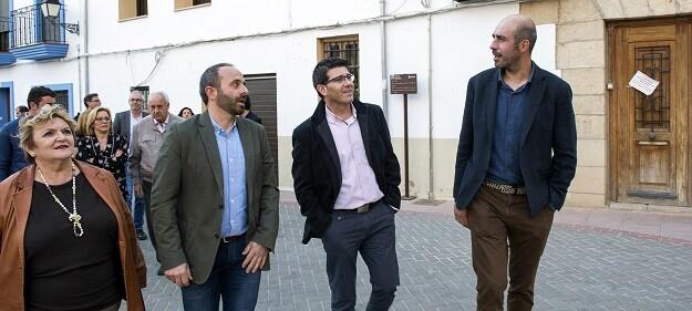 Jorge Rodríguez, visita en su gira de 48 horas cinco municipios de las comarcas de Los Serranos, la plana Utiel-Requena, la Hoya de Buñol y el Rincón de Ademuz.