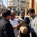 La Falla municipal recibe los primeros ninots hechos con paja de arroz.