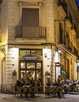 La Pilareta de noche. (Foto-Archivo empresa).