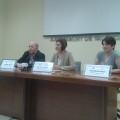 Las mujeres pilotaris protegonizan la presentación en el Ayuntamiento de sus próximas actividades deportivas.