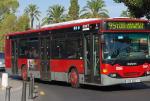 Los autobuses municipales apuestan por la diversidad en Fallas con el lema 'Borinot el que no bote'.