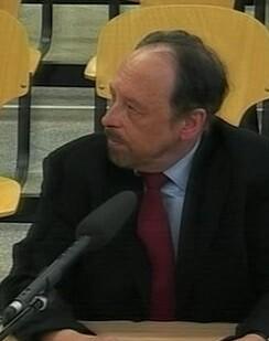 Luis Fraga en su declaración ante el juez. (Imagen de la tv).