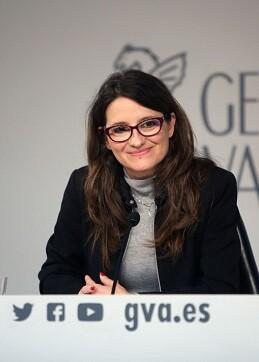 Mónica Oltra, La vicepresidenta y portavoz del Consell.