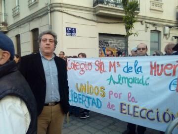 Manifestación por el decreto plurilingüe de Marzà y rechazo a la política lingüística llevaba a cabo el tripartito en Valencia (11)