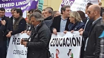 Manifestación por el decreto plurilingüe de Marzà y rechazo a la política lingüística llevaba a cabo el tripartito en Valencia (12)