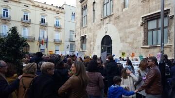 Manifestación por el decreto plurilingüe de Marzà y rechazo a la política lingüística llevaba a cabo el tripartito en Valencia (14)