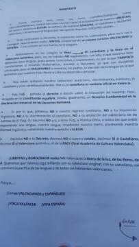 Manifestación por el decreto plurilingüe de Marzà y rechazo a la política lingüística llevaba a cabo el tripartito en Valencia (3)