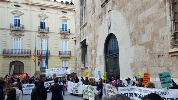 Manifestación por el decreto plurilingüe de Marzà y rechazo a la política lingüística llevaba a cabo el tripartito en Valencia (7)