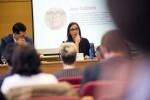"""Maria Josep Amigó-""""Es el momento del diálogo con el resto de administraciones y de promover la autonomía de los Ayuntamientos"""". (Foto-Abulaila)."""