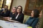"""Maria Josep Amigó-""""La Ribera Baixa dispondrá de 2 millones de euros para paliar la infrafinanciación crónica del Estado"""". (Foto-Abulaila)."""