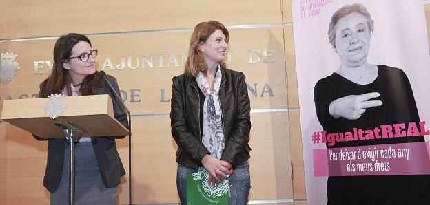 Oltra ha presentado la campaña de la Generalitat con motivo de la celebración del Día Internacional de la Mujeres.