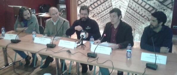 Presentación de la obra en rueda de prensa.