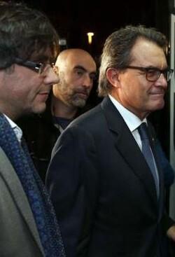 Puigdemont y Mas.