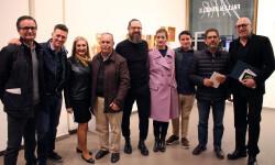 Rafa Pascual, Juan Carlos Forner, Javier Girbés y su esposa, Jarr y los artistas Rebeca Plana, Joaquín Artés y Santamans y Josep Lozano