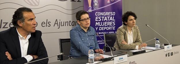 Rueda prensa presentación del congreso Estatal Mujeres y Deporte. (Foto-Abulaila).