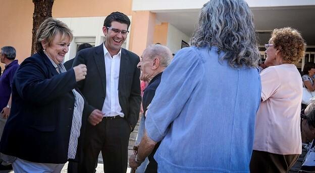 Visita de Rodríguez a la Residencia Aguas Vivas.