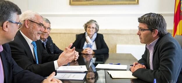 El presidente Jorge Rodríguez y el alcalde de Alboraya, Miguel Chavarría. (Foto-Abulaila).