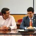 El presidente de la Diputación de Valencia y el rector de la Universitat Politècnica de València, Francisco Mora.