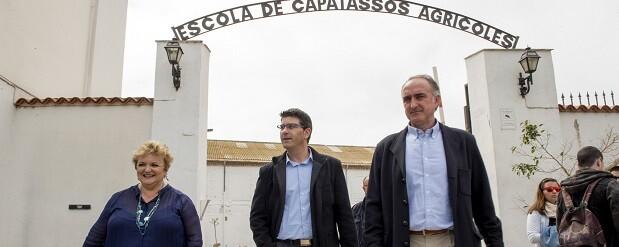 El presidente de la Diputación visita el centro formativo. (Foto-Abulaila).