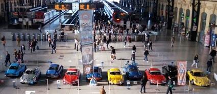 Exposición de los vehículos.