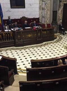 Giuseppe Grezzi explica que l'Equip de Govern treballa per a garantir l'accesibilitat de totes les persones al servici públic. (Pleno del Ayuntamiento).