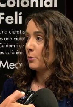 Glòria Tello durante la presentación de la campaña.