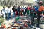La Escuela de Enología y la UPV organizan unas jornadas de convivencia para sanear los bosques.