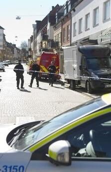 La Policía sueca acordonó la zona.