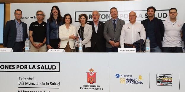 Maratones por la Salud' reúne a la organización de las principales pruebas de 42K y la Federación Española de Atletismo en un acto de hermanamiento.