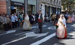 Ofrenda a Sant Vicent Ferrer, de los altares vicentinos al Patrón de la Comunitat Valenciana en Valencia (132)