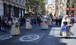 Ofrenda a Sant Vicent Ferrer, de los altares vicentinos al Patrón de la Comunitat Valenciana en Valencia (221)