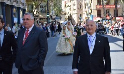 Ofrenda a Sant Vicent Ferrer, de los altares vicentinos al Patrón de la Comunitat Valenciana en Valencia (232)