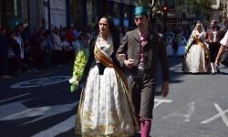 Ofrenda a Sant Vicent Ferrer, de los altares vicentinos al Patrón de la Comunitat Valenciana en Valencia (40)