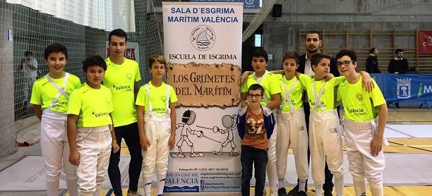 Seis alumnos del Sala d'Esgrima Marítim participarán por primera vez en un torneo internacional.