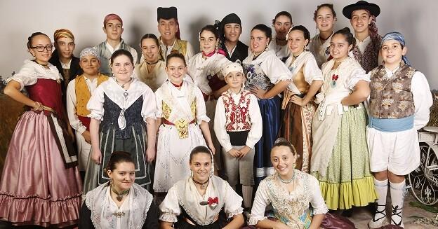 Uno de los grupos participantes en la presente edición de la Trobada de Folklore.