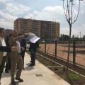 Vicent Sarrià visita el nuevo parque urbano de Malilla.