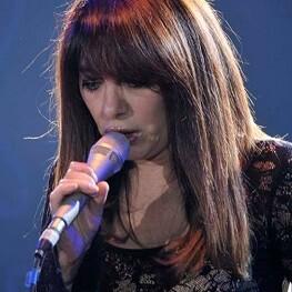 Adriana Varela durante su actuación.