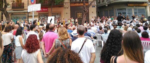 Bandas de música en lso barrios de Valencia.