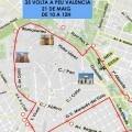 Dispositivo de tráfico con motivo de la V Volta a Peu València Caixa Popular el domingo 21 de mayo.