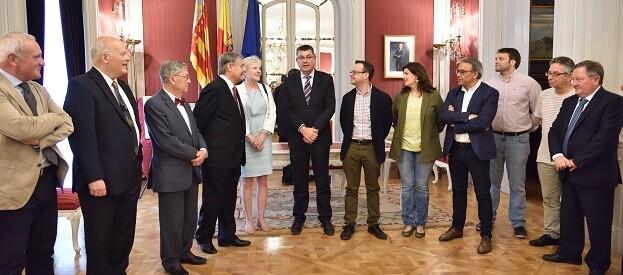 Enric Morera, recibió a una delegación de la Fundación Juan Negrín.